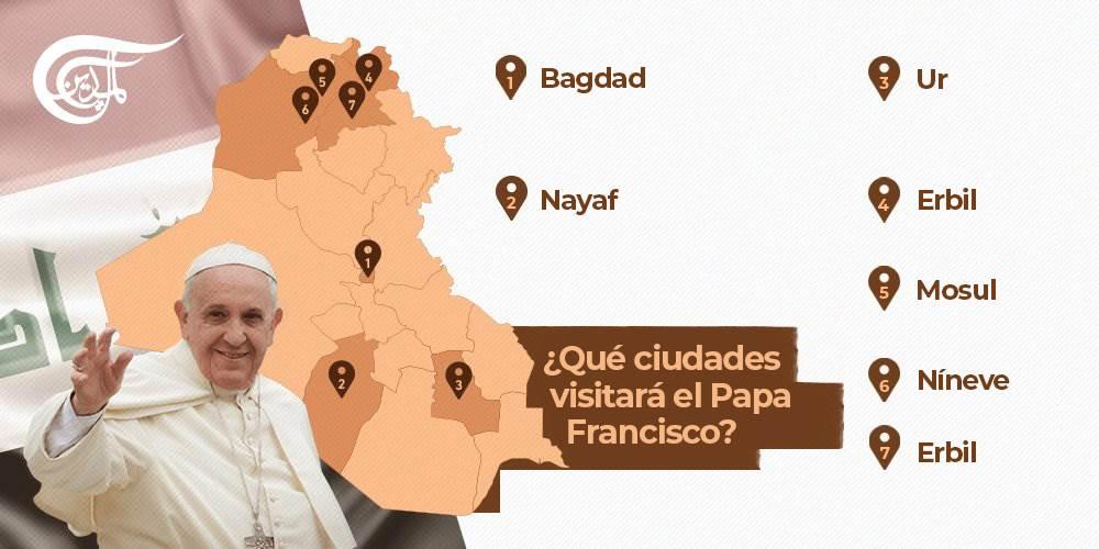 El Papa del Vaticano inicia hoy su histórica visita a Iraq