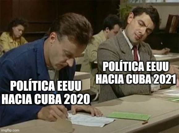 La política de EEUU con respecto a Cuba.